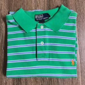 Men's Large Polo by Ralph Lauren Striped Polo